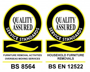 BSEN12522 and BS8564 badges