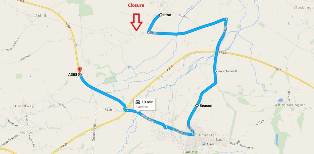 Cad green road closure ilminster diversion